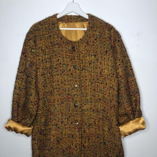 Veste en laine chamarée