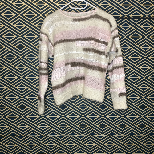 Pull tricoté main